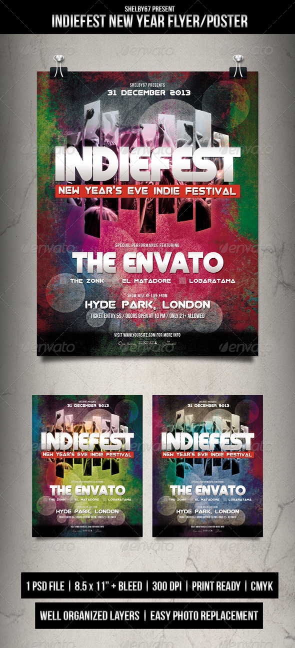 Indie Fest New Year Flyer / Poster - Events Flyers