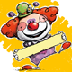Happy Clown - Holding Label - GraphicRiver Item for Sale