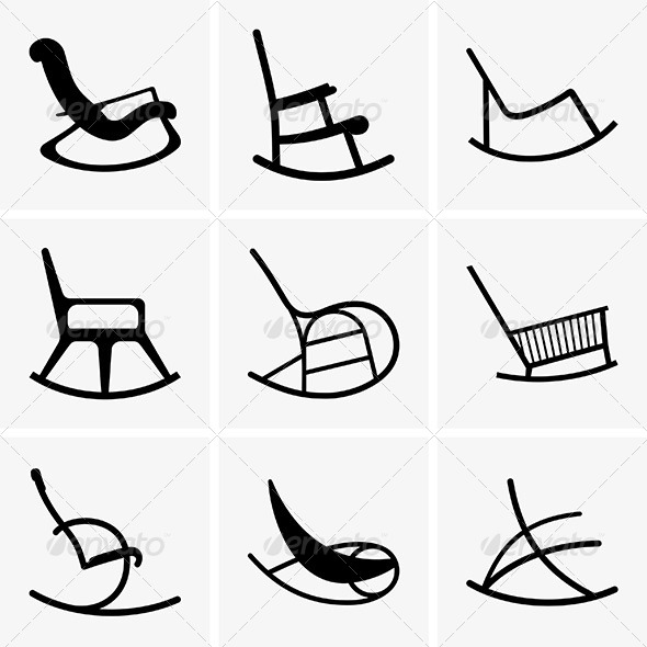 Rocking Chairs - Man-made Objects Objects
