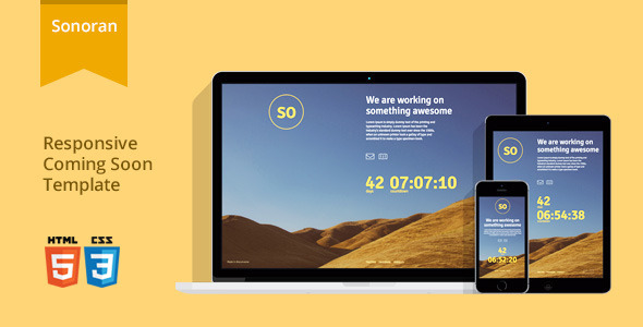 Sonoran – Responsive Coming Soon Template