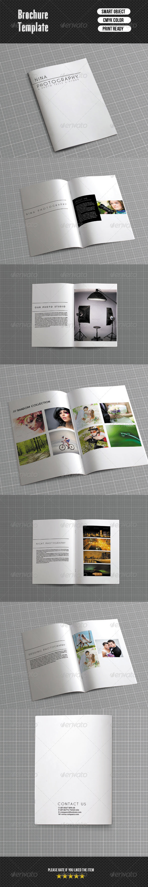 Bifold Brochure-Photographer - Portfolio Brochures