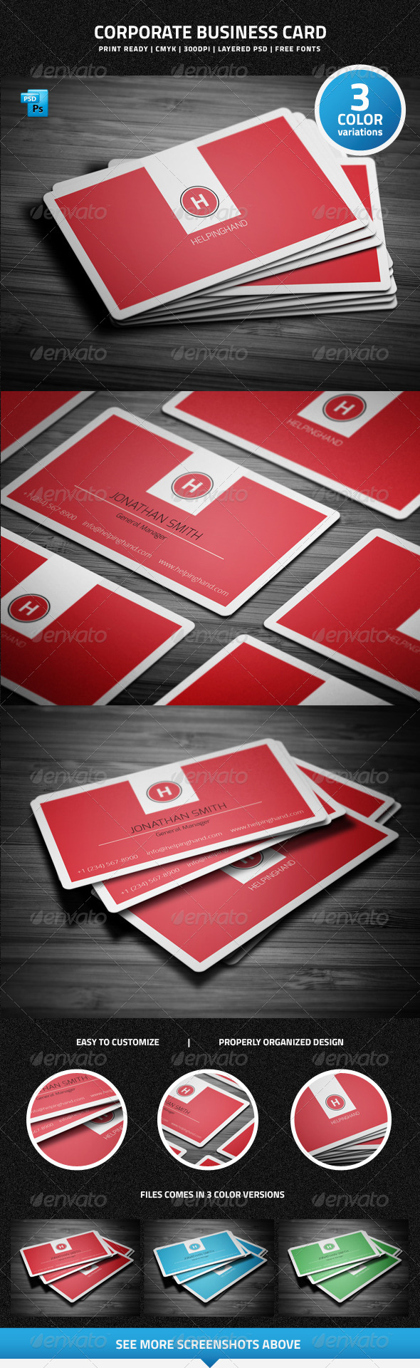 Corporate Business Card - 23 - Corporate Business Cards
