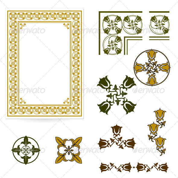 Decorative Form of the Certificate or Diplomas - Borders Decorative