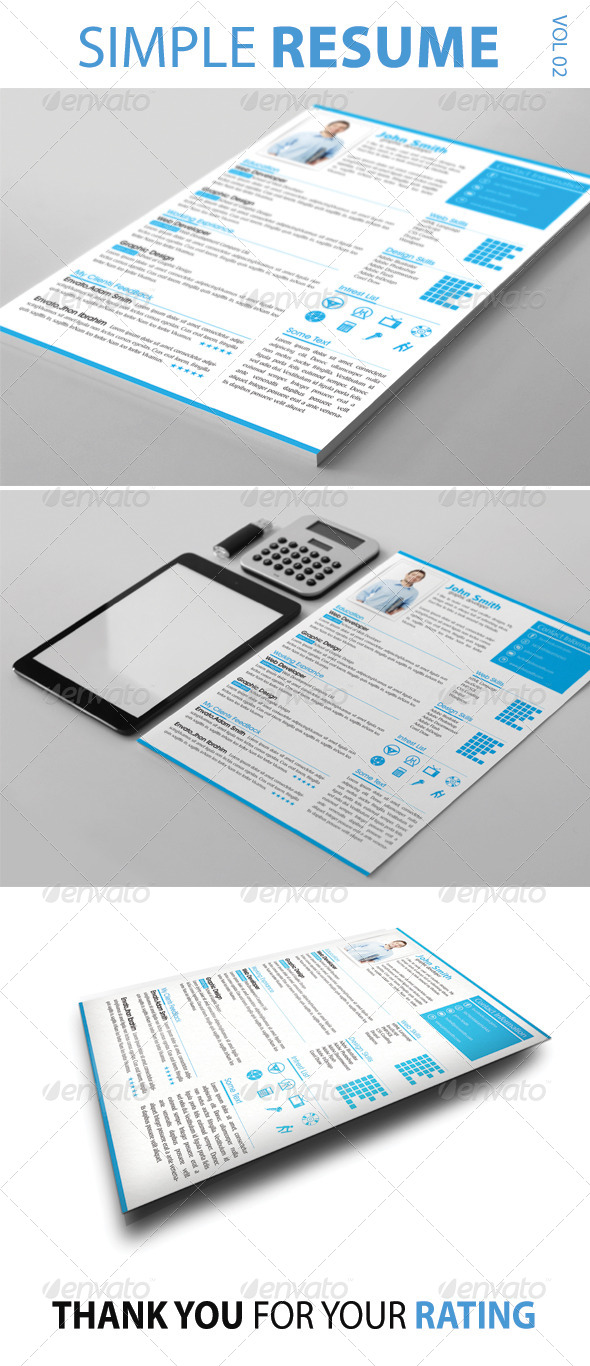 Simple Resume Vol-02 - Resumes Stationery