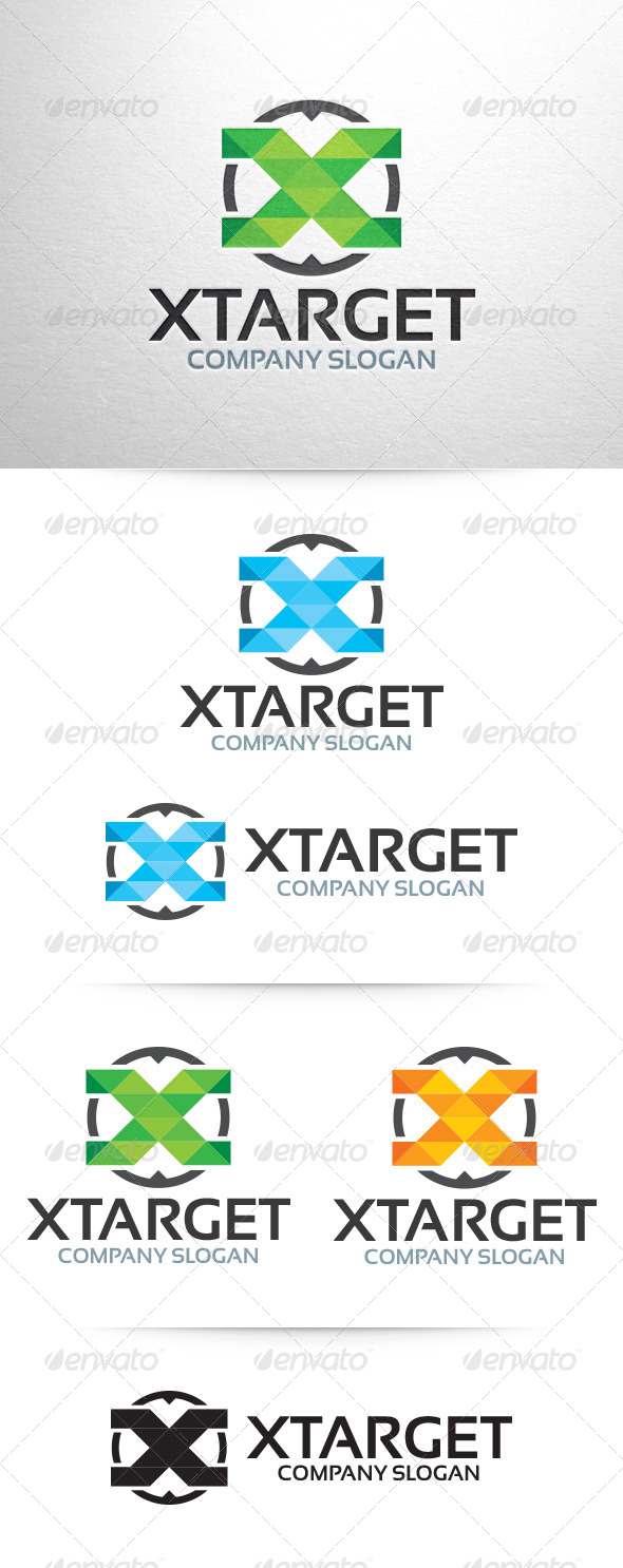 X Target - Letter X Logo - Letters Logo Templates