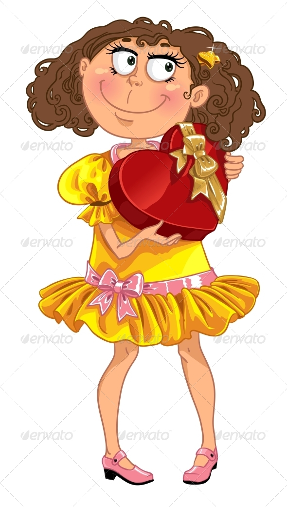 Woman Hold a Box of Candys - People Characters