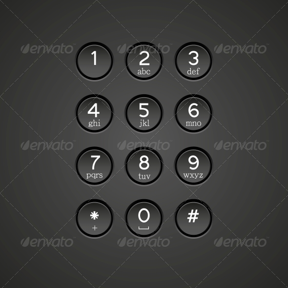 Vector Phone Keypad Background - Communications Technology