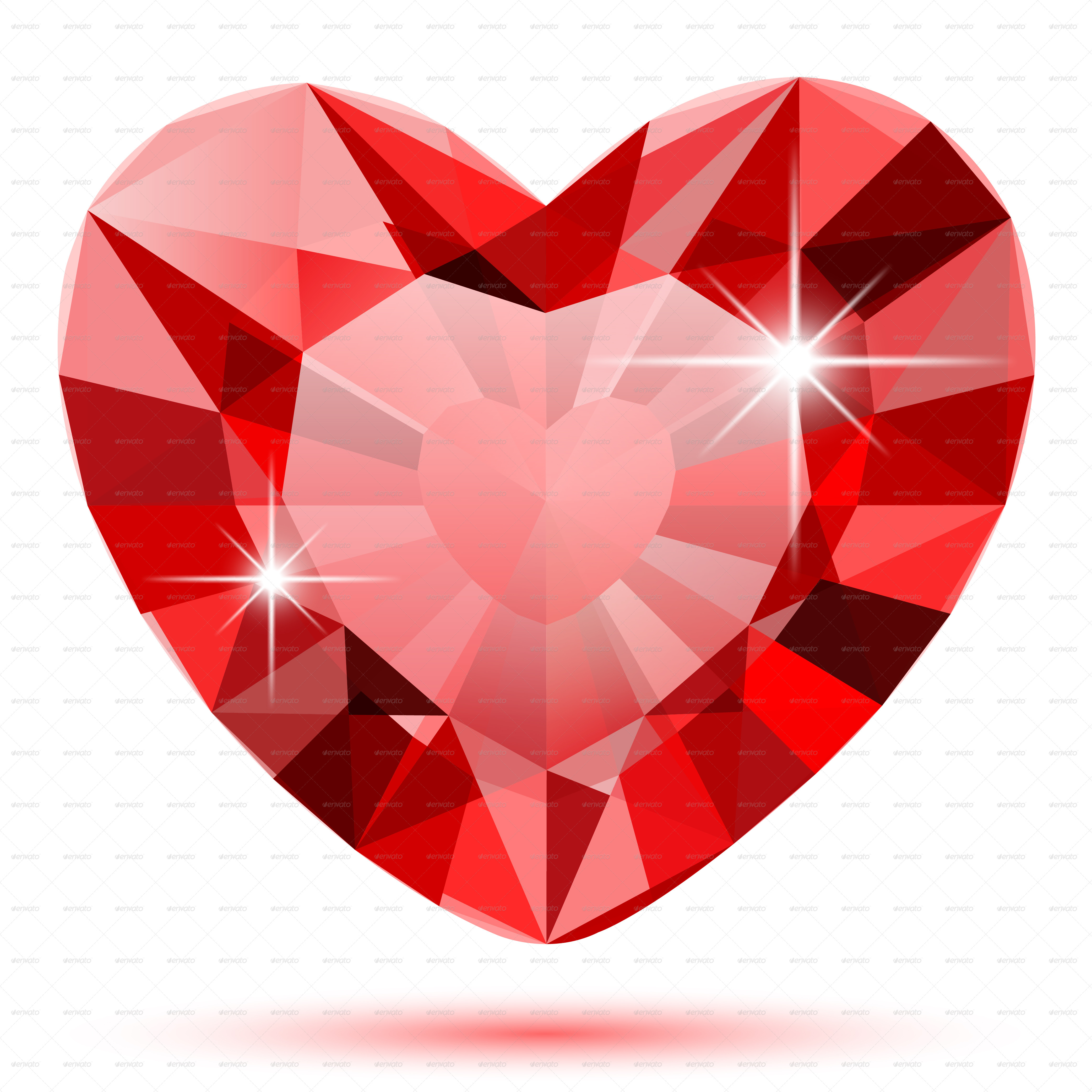 Diamond Heart by Cherkas | GraphicRiver