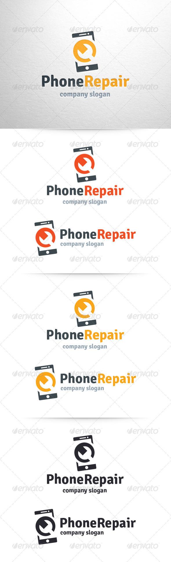 Phone Repair Logo Template - Objects Logo Templates