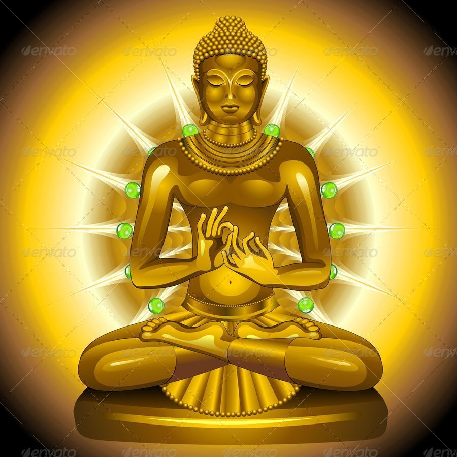 Buddha gold and emeralds statue by bluedarkat graphicriver buddha gold and emeralds statue biocorpaavc Image collections