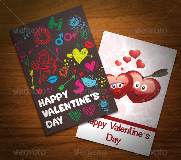 Valentine's Day Cards - Cards & Invites Print Templates