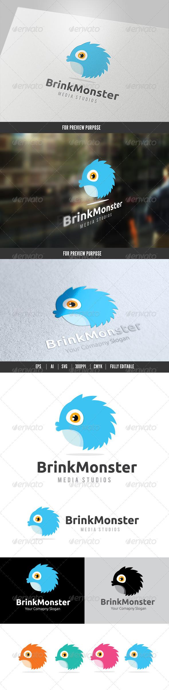 Brink Monster Logo - Animals Logo Templates
