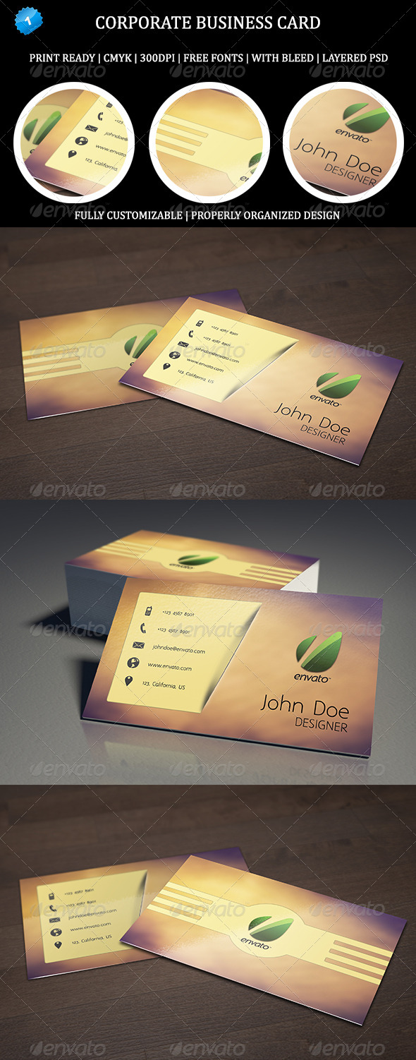 Corporate Business Card 1 - Business Cards Print Templates