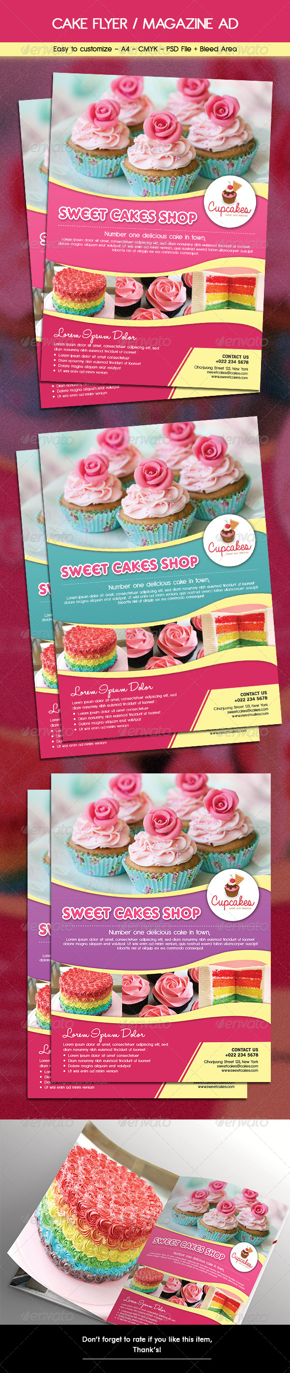 cake flyer magazine ad by arifpoernomo graphicriver