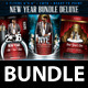 New Years Bundle Deluxe  (Flyer Template 4x6) - GraphicRiver Item for Sale