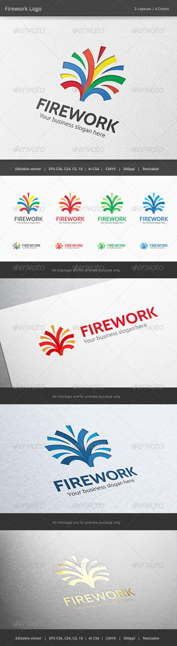 Firework Media Logo - Abstract Logo Templates