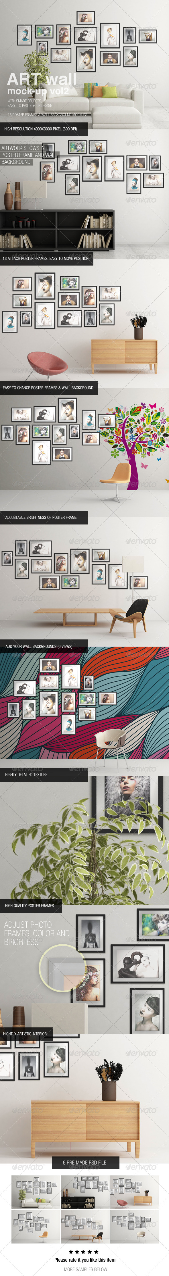 Art Wall Mock-Up Vol.2 - Posters Print