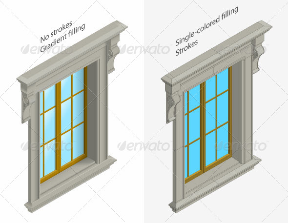Isomentic Windows - Buildings Objects