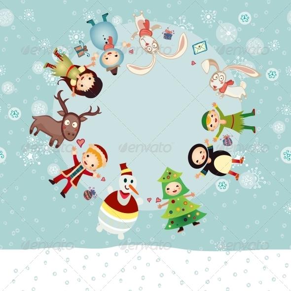 Christmas Circle - Backgrounds Decorative