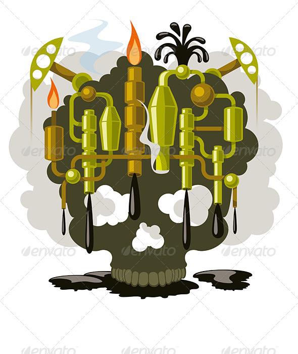 Oil Pollution - Nature Conceptual