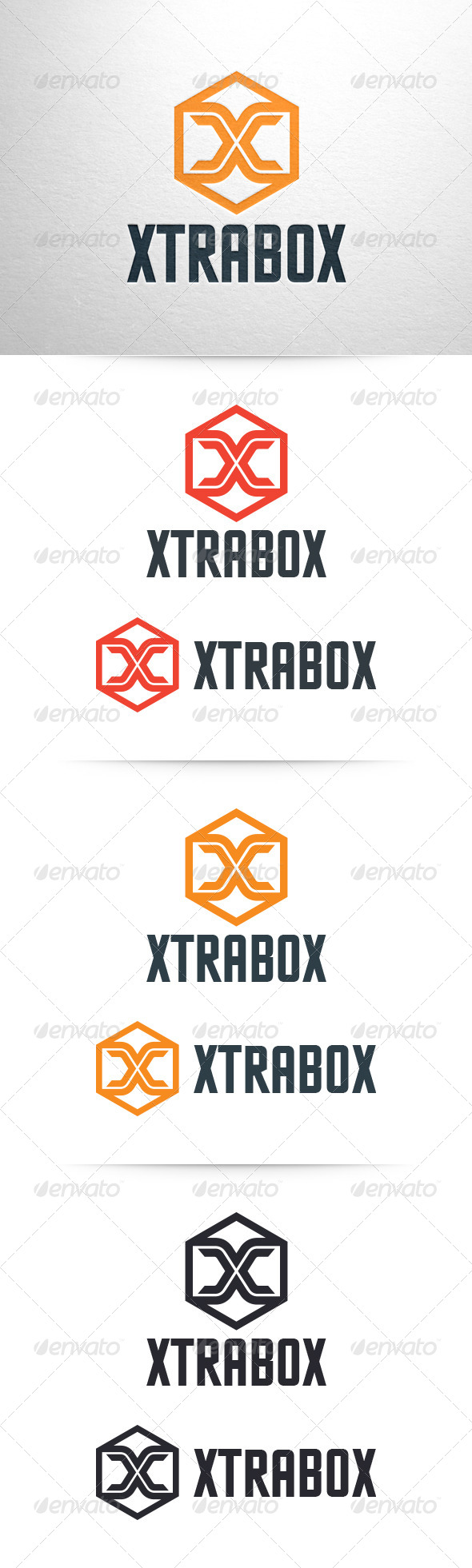 Xtrabox - Letter X Logo Template - Letters Logo Templates