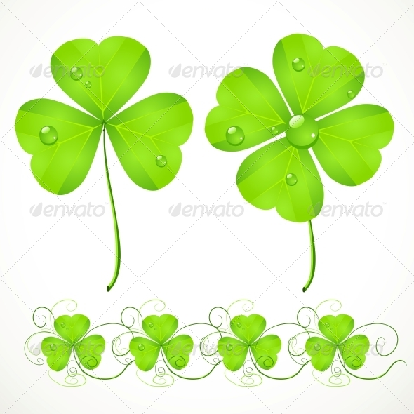 St. Patrick's Day Green Clover - Miscellaneous Seasons/Holidays