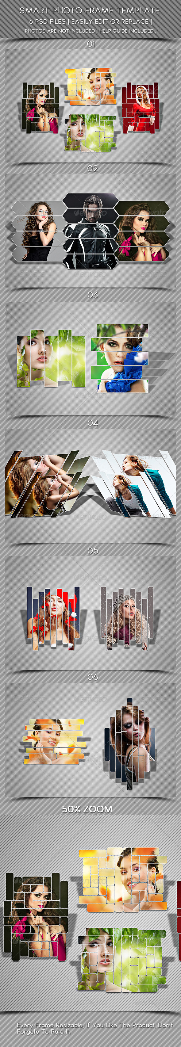 Smart Photoframe Template - Photo Templates Graphics