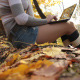 Girl with Laptop in the Park - VideoHive Item for Sale