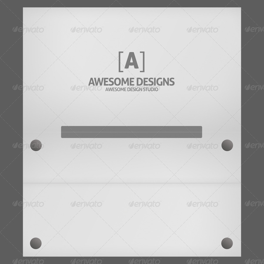 Mybook Pro Folded Business Card Template by Zeppelin_Graphics ...