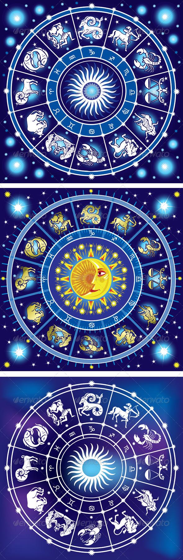 Horoscope Circle - Decorative Symbols Decorative