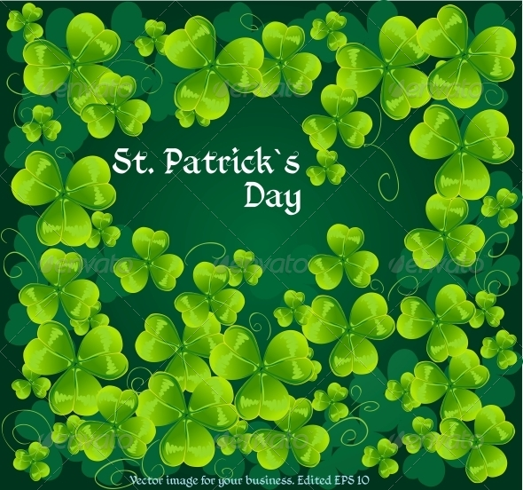Background with Green Clovers - Miscellaneous Seasons/Holidays