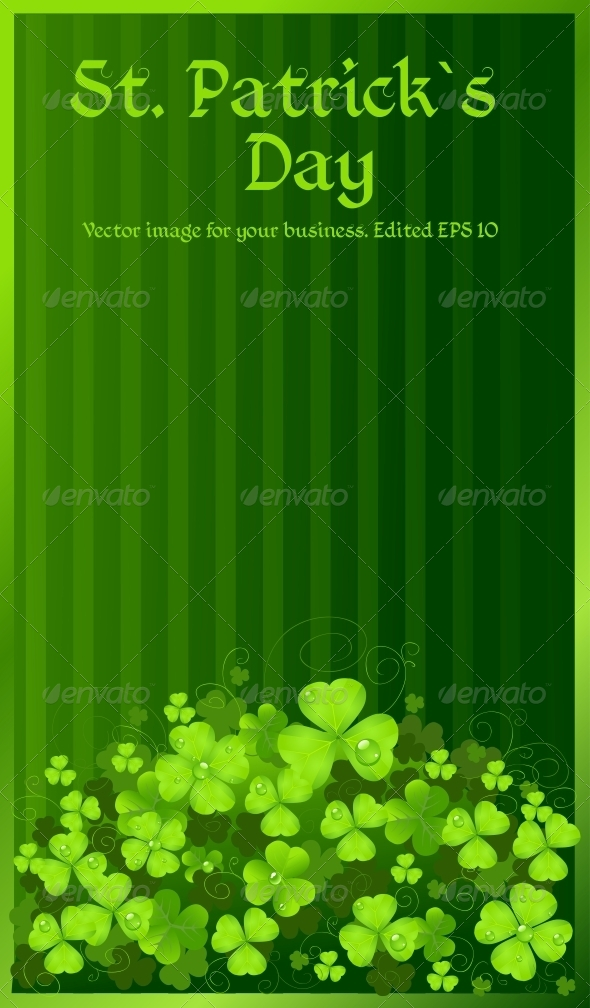 St. Patrick's Day Green Clover Background - Miscellaneous Seasons/Holidays