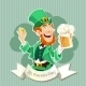 Leprechaun with a Beer Poster - GraphicRiver Item for Sale