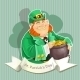 Fat Leprechauns Guards the Pot of Gold Poster - GraphicRiver Item for Sale