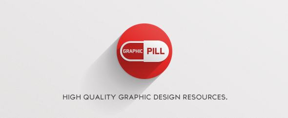 Graphicpill logo long shadow 590x242