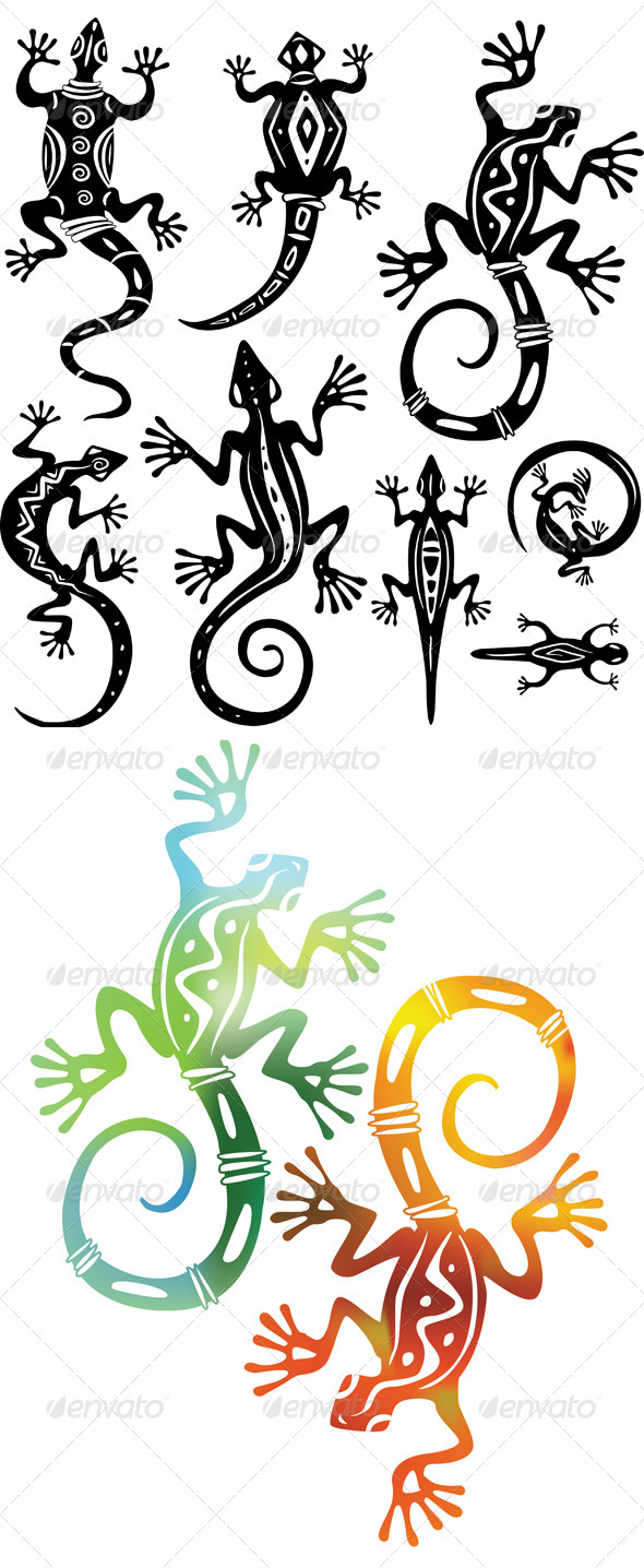 Decorative Lizards - Animals Characters