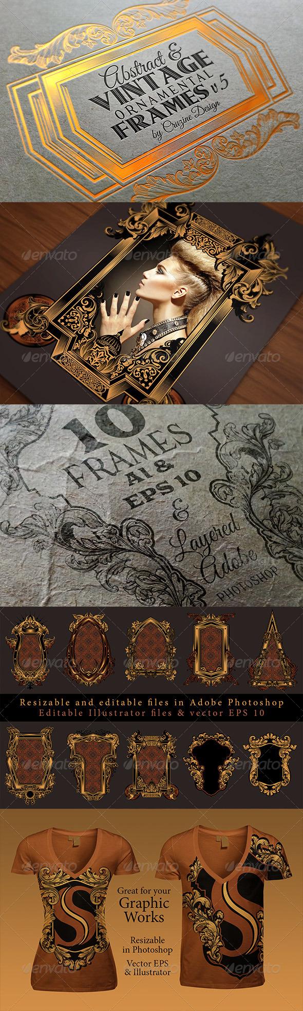 10 Frames Vol.5 - Vintage Ornament - Graphics