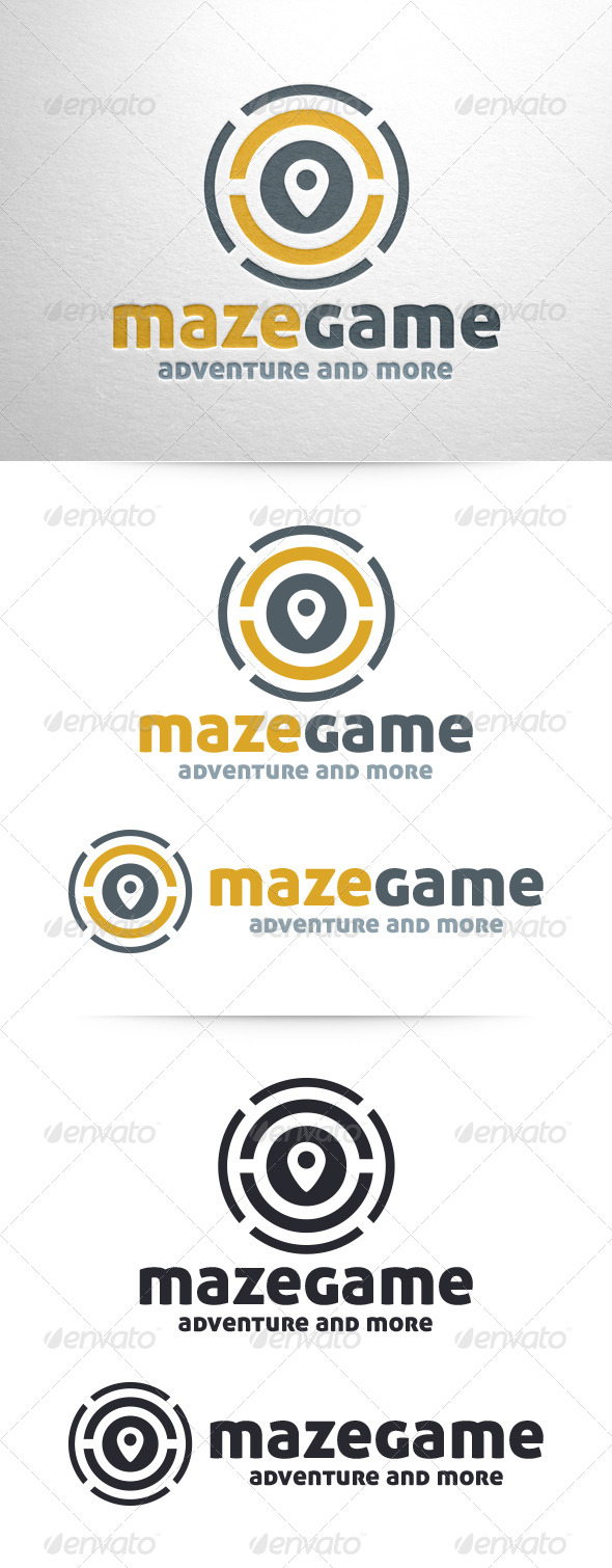 Maze Game Logo Template - Symbols Logo Templates