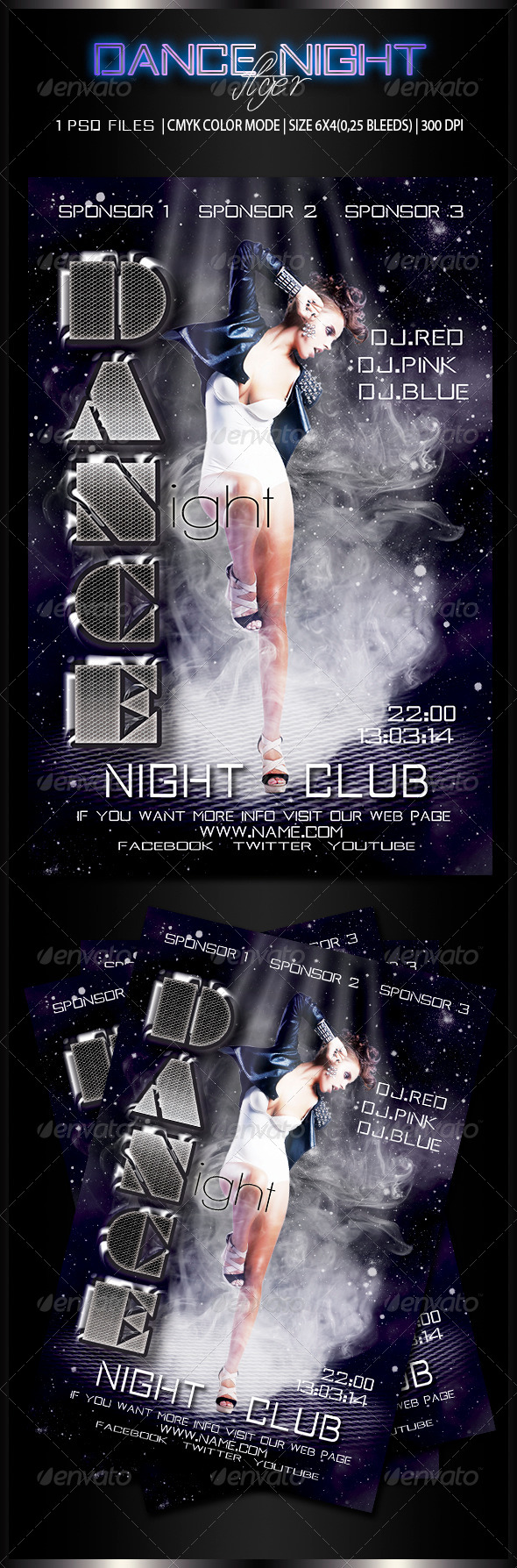 Dance Night Flyer 2 - Clubs & Parties Events