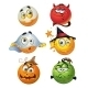 Set of Batch Vector Halloween Round Smiles - GraphicRiver Item for Sale