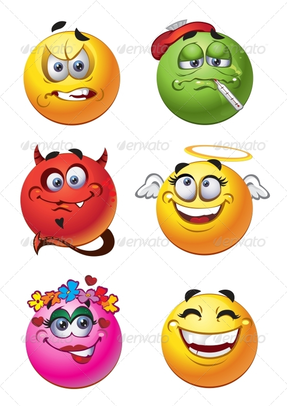 Set of Batch Emotions Smiles - Miscellaneous Characters