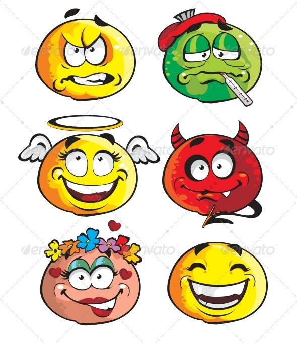 Set of Smileys - Miscellaneous Characters