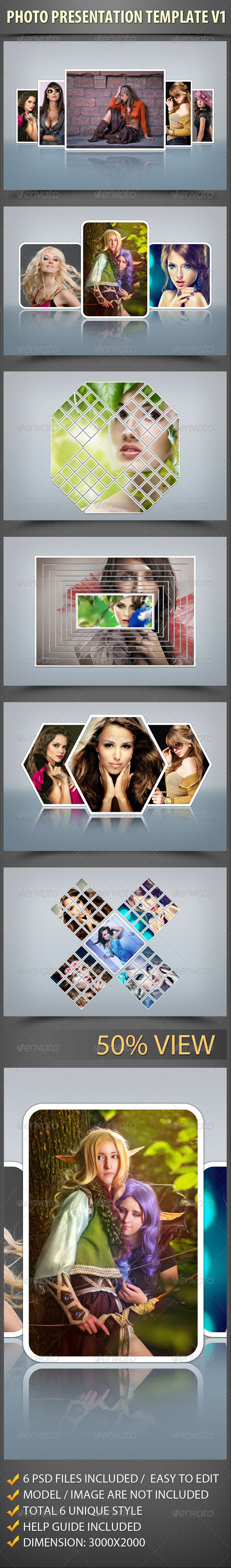 Photo  Presentation Template V1 - Photo Templates Graphics