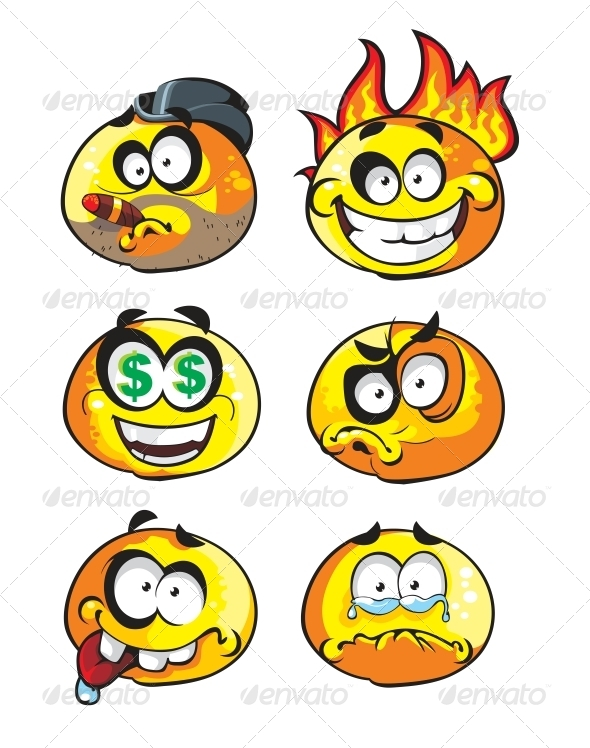 Set of Emoticon Smiles - Miscellaneous Characters