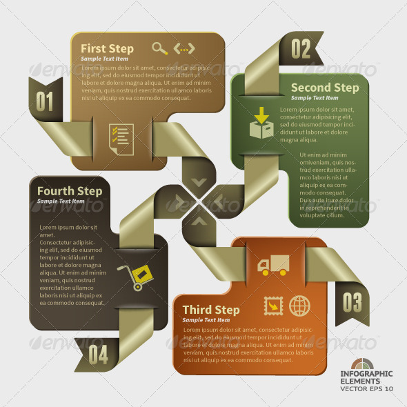 Abstract Infographic Design - 4 Steps - Infographics