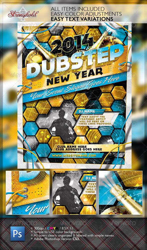 Happy New Year's Eve Dubstep Edition Flyer - Events Flyers