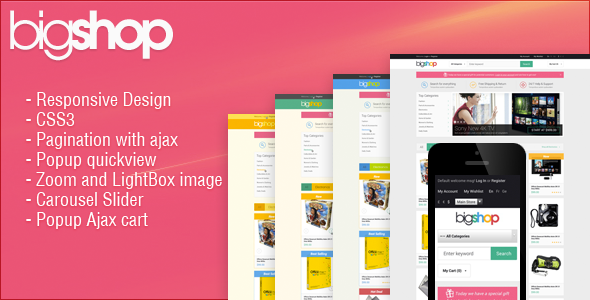 Responsive HTML Theme – HTML BigShop