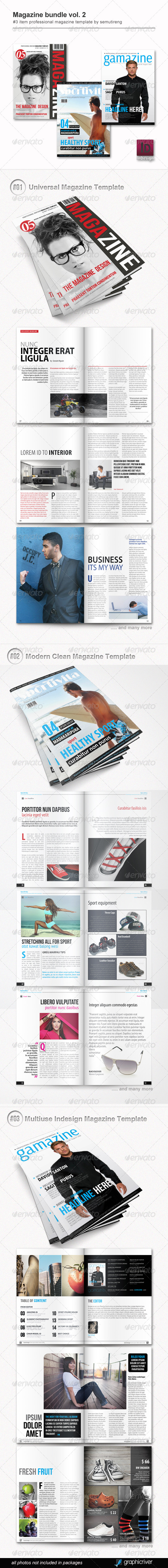 Magazine Bundle Vol 2 - Magazines Print Templates