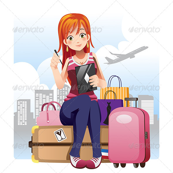 Traveling Girl - Travel Conceptual