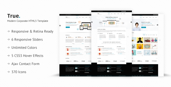 True – Retina Ready Multi Purpose HTML5 Template